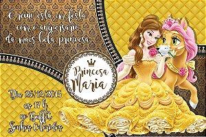 Convite digital personalizado A Bela e a Fera 013