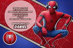 Convite digital personalizado Homem Aranha 017