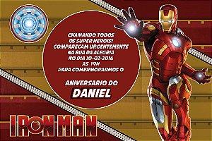 Convite digital personalizado Homem de Ferro 007