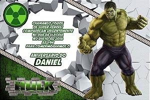 Convite digital personalizado Hulk 011