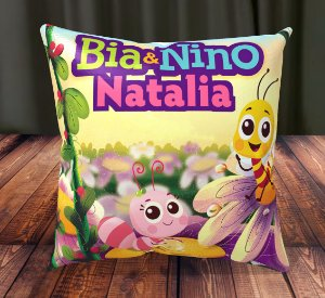 Almofada Personalizada para Festa Bia e Nino