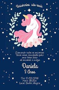 Convite digital personalizado Unicornio 008