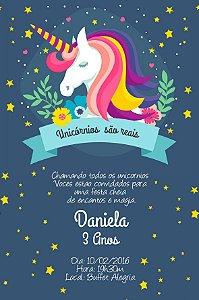 Convite digital personalizado Unicornio 009