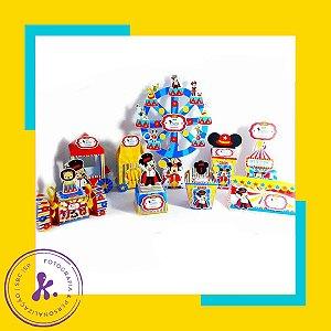 Kit com 9 caixinhas Circo do Mickey