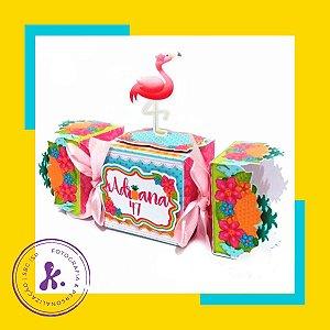 Kit com 8 caixinhas Flamingo