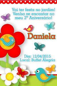 Convite digital personalizado Jardim Encantado 010