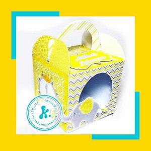 Kit com 7 caixinhas Elefantinho Amarelo