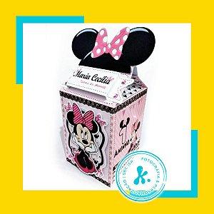 Kit com 5 caixinhas Minnie Rosa