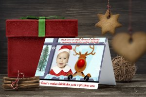 Cartão de Natal Personalizado Impresso 016