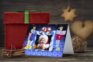 Cartão de Natal Personalizado Impresso 026