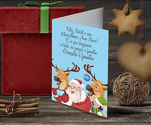 Cartão de Natal Personalizado Impresso 055