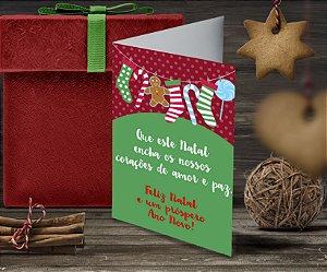 Cartão de Natal Personalizado Impresso 067