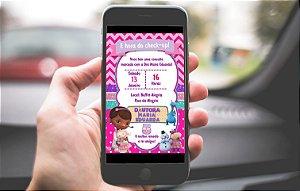 Convite digital personalizado Doutora Brinquedos 017