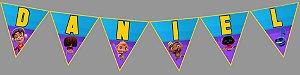 Bandeirinha Personalizada Mini Beat Power Rockers