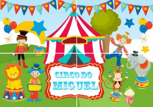 Painel personalizado Circo