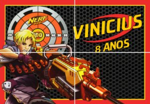 Painel personalizado Nerf
