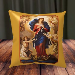Almofada Personalizada para Festa Nossa Senhora Desatadora Dos Nós
