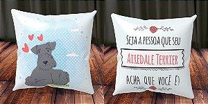 Almofada Personalizada - Cachorrinhos Airedale Terrier 1