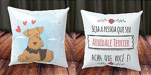 Almofada Personalizada - Cachorrinhos Airedale Terrier 2