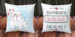 Almofada Personalizada - Cachorrinhos Bulldog Inglês 1