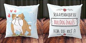 Almofada Personalizada - Cachorrinhos Bulldog Inglês 2