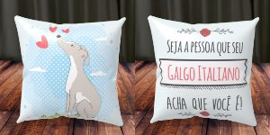 Almofada Personalizada - Cachorrinhos Galgo Italiano 1