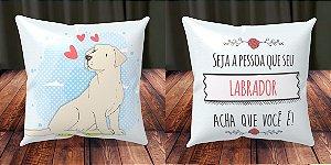 Almofada Personalizada - Cachorrinhos Labrador 2