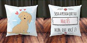 Almofada Personalizada - Cachorrinhos Maltês 1