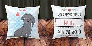 Almofada Personalizada - Cachorrinhos Maltês 2