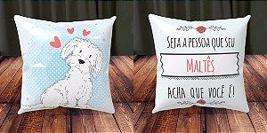 Almofada Personalizada - Cachorrinhos Maltês 3