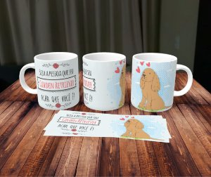Caneca Cachorrinhos - Golden Retriever