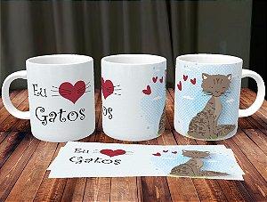Caneca Eu Amo Gatos 1