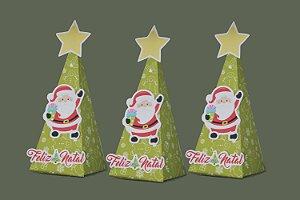 Caixa Cone Papai Noel