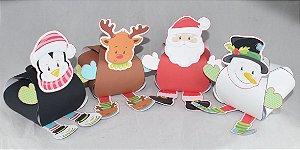 Porta bombom com personagem de Natal