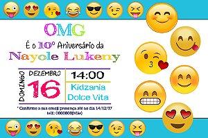 Convite digital personalizado OMG Emoji