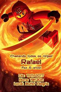 Convite digital personalizado Ninjago 001