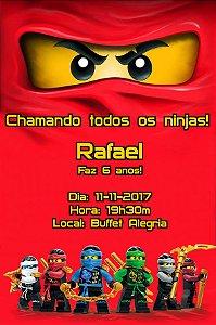 Convite digital personalizado Ninjago 005