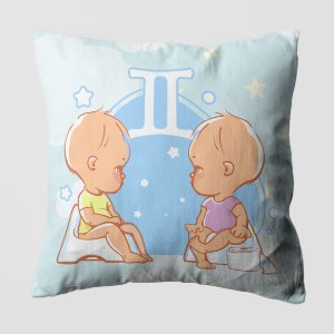 Almofada do Bebe Signo Gêmeos