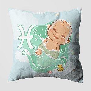 Almofada do Bebe Signo Peixes