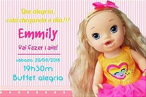 Convite digital personalizado Baby Alive 001
