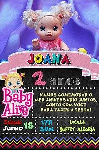 Convite digital personalizado Baby Alive 002