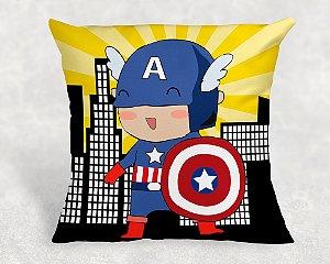 Almofada Personalizada para Festa Capitão América Cute