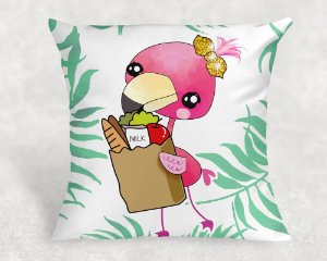 Almofada Personalizada para Festa Flamingo 7