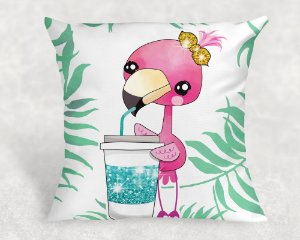 Almofada Personalizada para Festa Flamingo 8