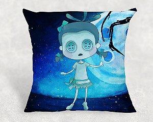 Almofada Personalizada para Festa Menina Fantasma do filme Coraline