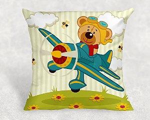 Almofada Personalizada para Festa Ursinho Aviador 58