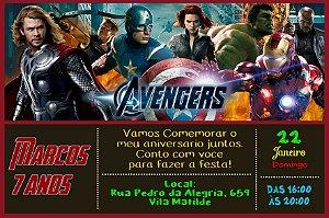Convite digital personalizado Vingadores 017