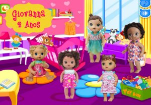 Painel em TNT Baby Alive