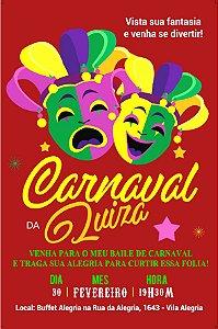Convite digital personalizado Carnaval 5
