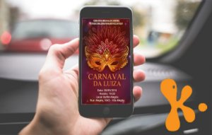 Convite digital personalizado Carnaval 3